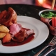 Father's Day in Marton at The Punch Bowl - a Sunday Roast on a table.