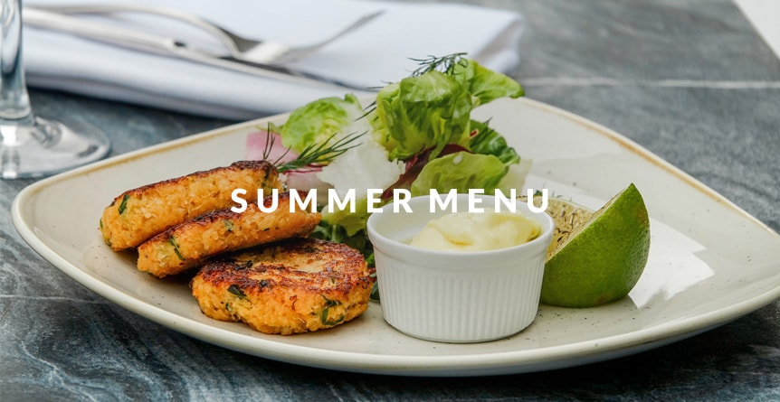 New summer menu launch a The Punch Bowl in Marton-cum-Grafton - an image of our crab cakes off the summer menu